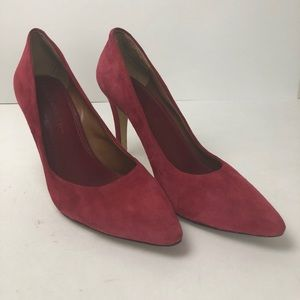 Banana Republic red suede pumps size 9.5